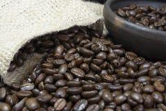 Primer III de los granos de café Fotografía de archivo