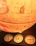 Primer iluminado del globo Imágenes de archivo libres de regalías