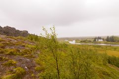 Primer Islandia Parlimnet paisaje de Allthing foto de archivo