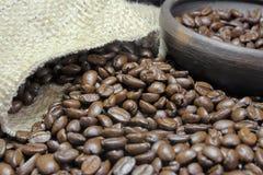 Primer IV de los granos de café Imagen de archivo libre de regalías