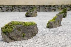 Primer japonés del jardín de la piedra y de la arena Fotos de archivo libres de regalías
