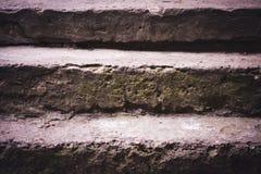 Primer lamentable viejo de los pasos concretos Foto de archivo libre de regalías