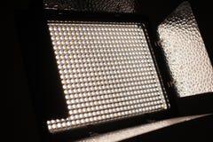 Primer ligero del equipo de la foto y del vídeo del LED Fotos de archivo