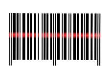 Primer macro de exploración del código de barras vacío aislado foto de archivo libre de regalías