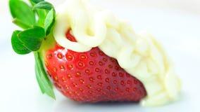 Primer macro de la fruta fresca de la fresa Imagen de archivo