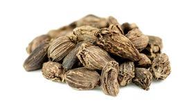 Primer macro de las semillas del cardamomo Foto de archivo libre de regalías