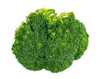 Primer macro del florete del bróculi aislado en blanco Imagen de archivo