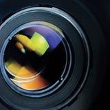 Primer macro detallado grande del enfoque de la lente y de la capilla Imagen de archivo libre de regalías