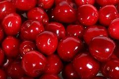 Primer maduro rojo de las cerezas dulces Foto de archivo libre de regalías