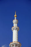 Primer magnífico de la mezquita en Abu Dhabi UAE Fotografía de archivo libre de regalías