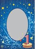 Primer marco del cumpleaños Imagen de archivo