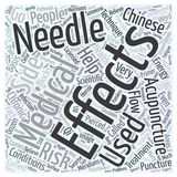 A Primer on Medical Acupuncture word cloud concept vector background Stock Photography