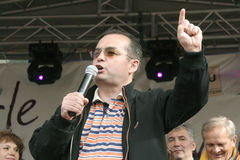 Primer ministro de Emilio Boc de Rumania Foto de archivo libre de regalías
