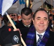 Primer ministro de Escocia - Alex Salmond Foto de archivo