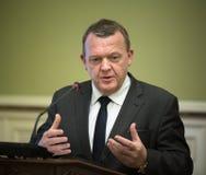 Primer ministro del Reino de Dinamarca Lars Lokke Rasmussen Fotos de archivo