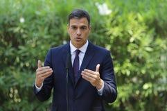 Primer ministro español Pedro Sanchez fotografía de archivo libre de regalías