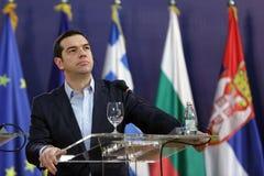 Primer ministro griego Alexis Tsipras imagenes de archivo