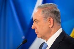 Primer ministro israelí Benjamin Netanyahu foto de archivo