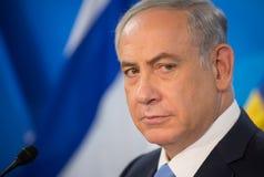 Primer ministro israelí Benjamin Netanyahu imagen de archivo libre de regalías