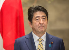 Primer ministro japonés Shinzo Abe Foto de archivo