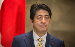 Primer ministro japonés Shinzo Abe Imagen de archivo libre de regalías
