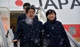 Primer ministro japonés Shinzo Abe en visita oficial a la República de Serbia Fotos de archivo