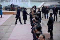 Primer ministro japonés Shinzo Abe en visita oficial a la República de Serbia Fotografía de archivo libre de regalías