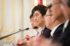 Primer ministro Shinzo Abe Imágenes de archivo libres de regalías