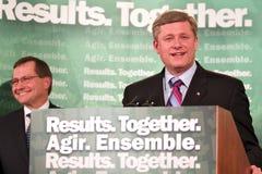 Primer ministro Stephen Harper Imágenes de archivo libres de regalías