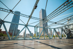 Primer movible del puente Fotografía de archivo