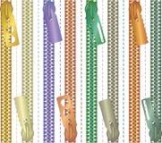 Primer multicolor de la cremallera - Fotos de archivo