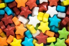 Primer multicolor de los caramelos de las estrellas Fotografía de archivo