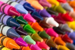 Primer multicolor de los creyones imagen de archivo libre de regalías