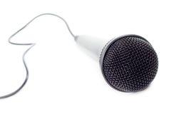 Primer musical del micrófono Fotografía de archivo libre de regalías