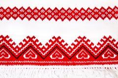 Primer nacional ucraniano del bordado del ornamento Fotografía de archivo