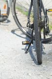 Primer negro de la bicicleta Foto de archivo libre de regalías