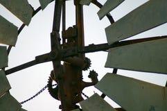 Primer o toma abstracta en el molino de viento fotos de archivo