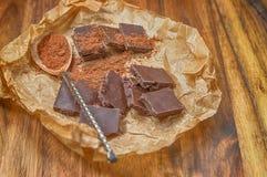 Primer oscuro del chocolate Fotos de archivo