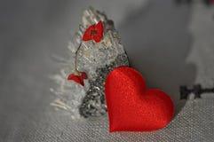 Primer para el día de tarjetas del día de San Valentín Imagenes de archivo