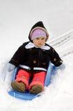 Primer paseo en la nieve 1 Fotografía de archivo libre de regalías