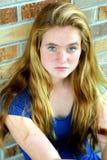 Primer pecoso de la muchacha Foto de archivo