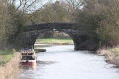 Primer puente en el canal de Ashby de la Zouch Fotografía de archivo