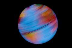 Primer rápido del globo de la tierra en negro Fotos de archivo libres de regalías