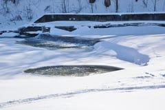 Primer río de Humber del vertedero mediados de febrero Foto de archivo libre de regalías