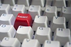 Primer rojo del botón de pánico Imagenes de archivo
