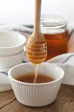 Primer sano dulce delicioso de la vida del cazo de la miel aún Imagen de archivo libre de regalías