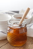 Primer sano dulce delicioso de la vida del cazo de la miel aún Fotos de archivo