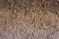 Primer seco rojo de la marga de la arcilla como fondo Foto de archivo libre de regalías