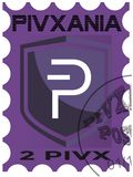 Primer sello postal de PIVX fotos de archivo