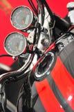 La motocicleta revs los indicadores de un kilometraje Foto de archivo